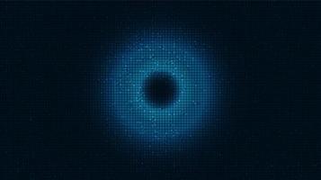 Light Eye-Technologie-Hintergrund, High-Tech-Digital- und Kommunikationskonzeptdesign, freier Speicherplatz für Text vektor