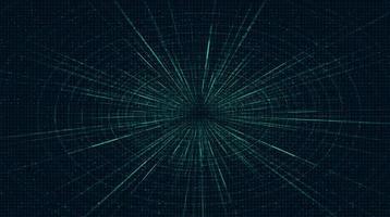 blå futuristisk hyperspace-hastighetsrörelse på framtida teknikbakgrund vektor