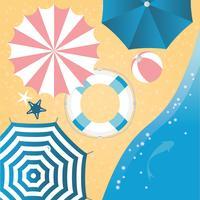 Draufsicht-Sommer-Illustration des Vektors