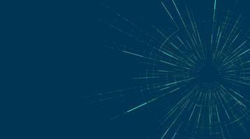 futuristische Hyperraum-Geschwindigkeitsbewegung auf zukünftigem Technologiehintergrund vektor