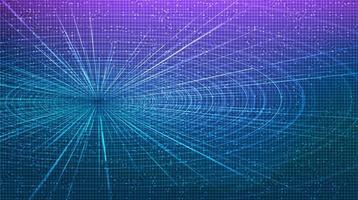 abstrakte futuristische Hyperraum-Geschwindigkeitsbewegung auf zukünftigem Technologiehintergrund vektor