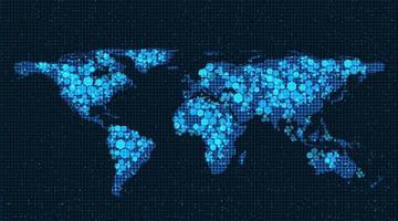 ljus globala nätverk systemteknik bakgrund vektor