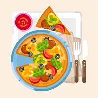 Vektor-Pizza-Illustration vektor