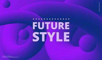 flüssige Form. flüssiger Hintergrund. trendiges abstraktes Cover. futuristisches Designplakat. Vektorillustration vektor