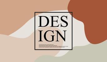 abstrakter Hintergrund mit minimaler Formfarbe vektor