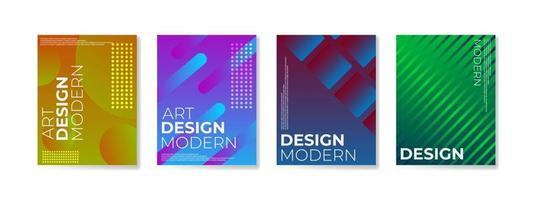affischuppsättning med lutningsformer sammansättning bakgrund för företagsbroschyr och banner vektor