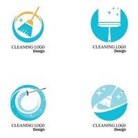 Reinigung sauber Service Logo Symbol Vektor-Vorlage gesetzt vektor