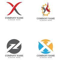 x Brief Logo Vorlage Vektor Symbol Illustration Design-Set