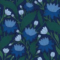 mörkblå bakgrund med vågig blå färg vektor