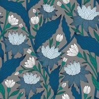 grå bakgrund med vågiga blå och vita färger vektor
