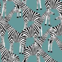hellblauer Hintergrund mit Giraffen, die Zebras sein wollen vektor