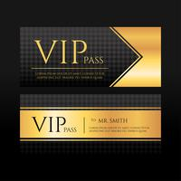 VIP Passvorlage Vektor