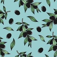 blauer Hintergrund mit Olivenzweigen vektor