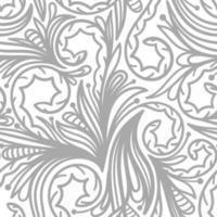 weißer nahtloser Hintergrund mit grauem Muster vektor