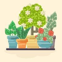 Vector Coloful Växter