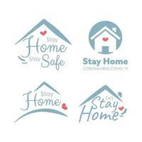 Bleib zu Hause Konzept. Coronavirus bleiben zu Hause Kampagne. vektor