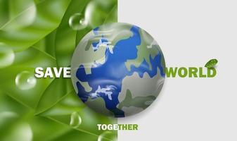 rette die Welt, sag nein zum Hintergrund des Plastikkonzepts. vektor