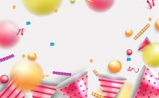 Partyhintergrund mit freudigen Elementen. vektor