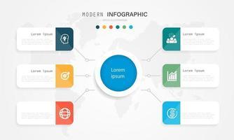 modernes und kreatives Infografik-Design mit Farbmuster. eps10 Vektorillustration. vektor
