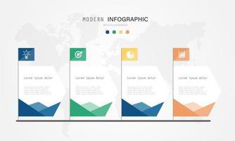 modern och kreativ infografisk design med färgmönster. eps10 vektorillustration. vektor