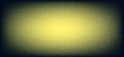 gul mikrochipteknologibakgrund vektor