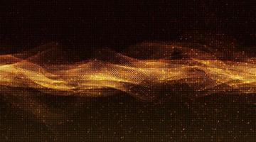 gyllene glans ljudvåg bakgrund vektor