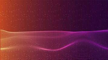 winkende bunte digitale Schallwelle vektor