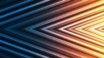 Pfeil Technologie Hintergrund, Digital- und Verbindungskonzeptdesign, Vektorillustration. vektor