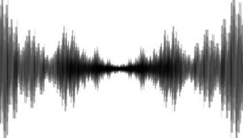 schwarze Erdbebenwelle auf weißem Papierhintergrund vektor