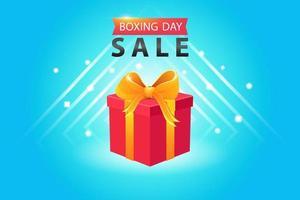 Boxing Day Sale mit Geschenkbox Template Design vektor