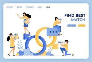 Finden Sie Übereinstimmungspartner mit Dating-Apps. Sexualerziehung Vektor-Design. 3D-Stilsymbol des Geschlechts der Venus und des Marsgeschlechts. Partner, um Liebe und Leben zu machen. Illustration für Landing Page, Web, Website, Poster, UI vektor