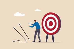 lära av misslyckande eller misstag, erkänna och omfamna misslyckandet och träna för att uppnå framgång nästa gång begreppet vektor