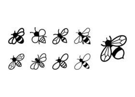 Bienenikonen-Entwurfsschablonenvektor vektor