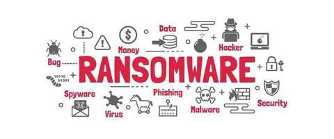 ransomware vektor banner