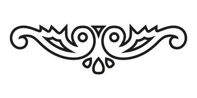 Buchverzierung, Schriftrolle, Vignette, Monogramm in Form von zwei stilisierten Vögeln. vektor