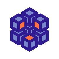 3D-Array-Gliederungssymbol. Vektorelement aus dem Set für Big Data und maschinelles Lernen. vektor