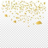 gyllene konfetti vektor design
