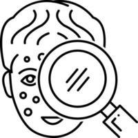 Zeilensymbol für Symption Checker vektor