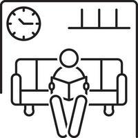 Liniensymbol für Wartezimmer vektor