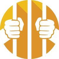 Hände halten Gefängnisstangen vektor