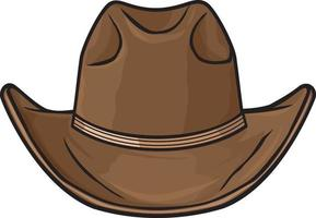 brauner Cowboyhut vektor
