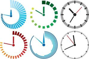 Uhrensymbole eingestellt vektor