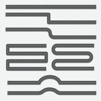 Setze Vektor Straßenelement