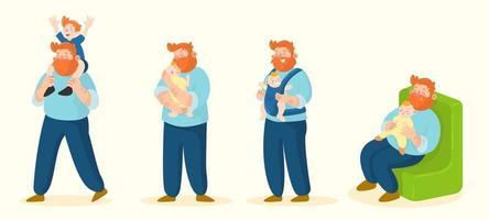 Vatertag Charakter Konzept vektor