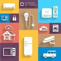 Icon Set Internet der Sache vektor
