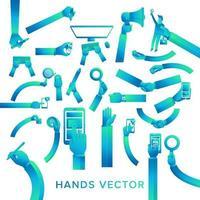 Handvektorsatz vektor
