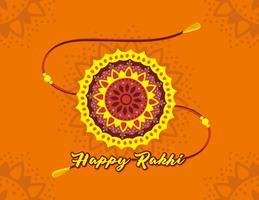 Glücklicher Rakhi Vektor