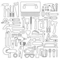 Icon Set Tools Hardware vektor