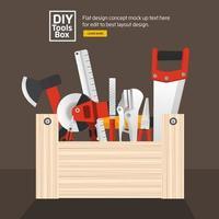 DIY Werkzeugkasten vektor