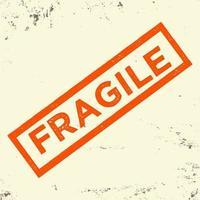 fragile Typografie für T-Shirt, Stempel, T-Shirt-Druck, Applikation, Modeslogan, Abzeichen, Etikettenkleidung, Jeans oder andere Druckprodukte. Vektorillustration vektor